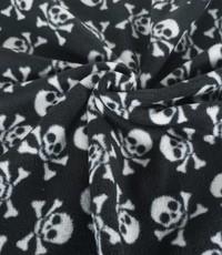 Fleece skulls zwart