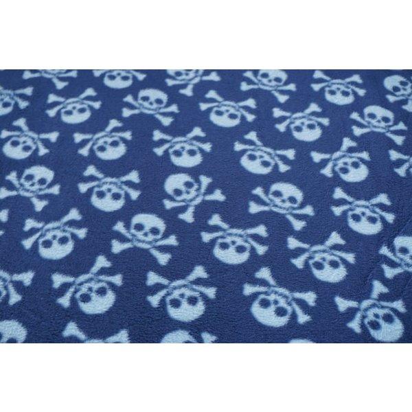 Fleece skulls blauw
