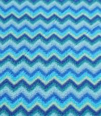 Fleece zigzag blauw
