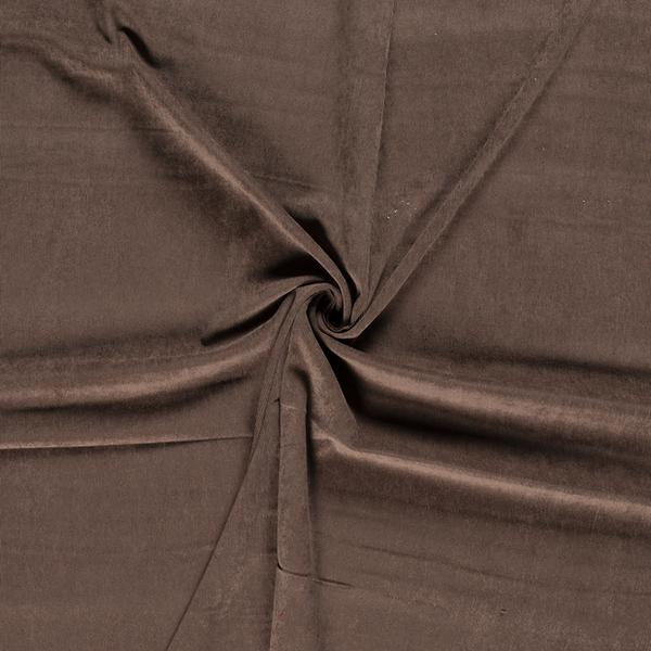 Suedine tricot bruin