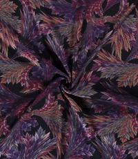 Paarse bloemveeg