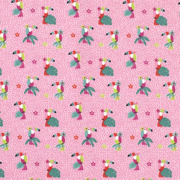 Tricot roze toekan