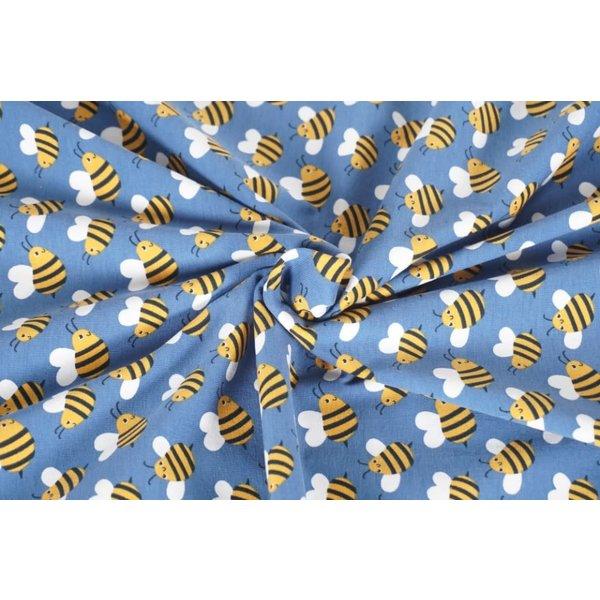 Tricot jeansblauw met bijtjes