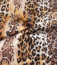 Stretch katoen dierenprint