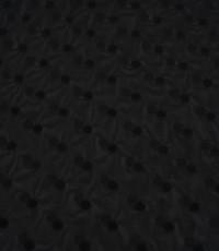Chiffon stretch zwart met midi stipje