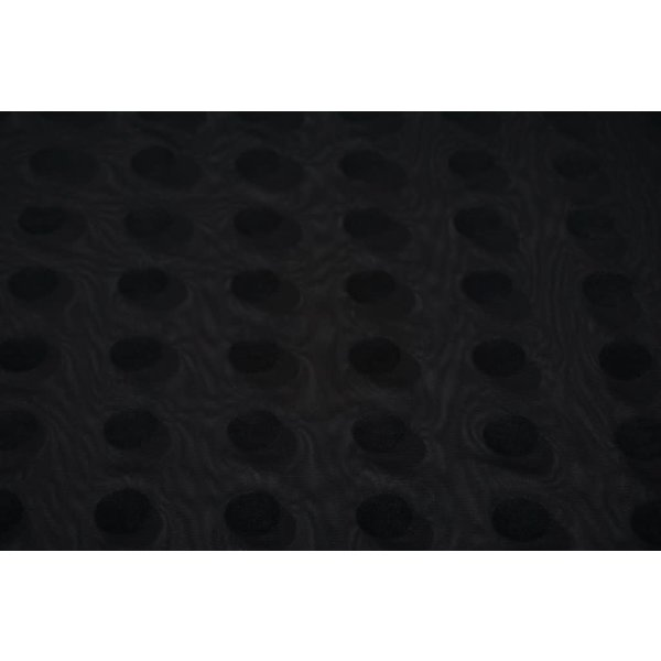 Chiffon stretch zwart met maxi stipje