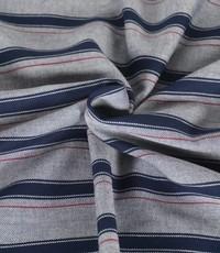 Streepje met grijs en donkerblauw