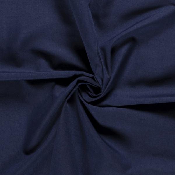 Overhemdenstof donkerblauw