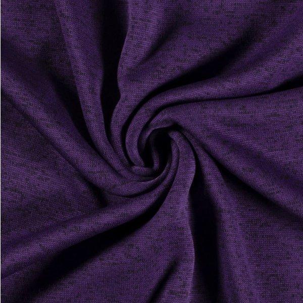 Knitted jogging gemeleerd paars