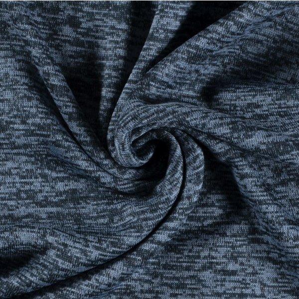 Knitted jogging gemeleerd blauw