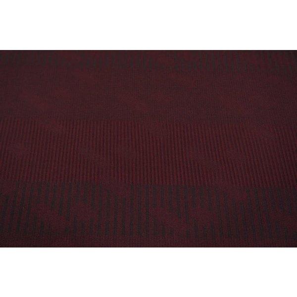 Gebreide stof in bordeaux rood