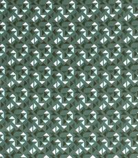 Popeline driehoekje ton sur ton groen