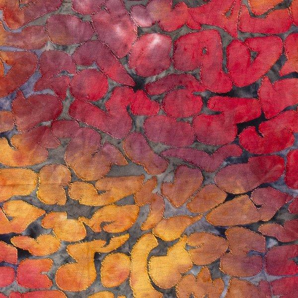 Jersey met opgelegd patroon oranje en rood