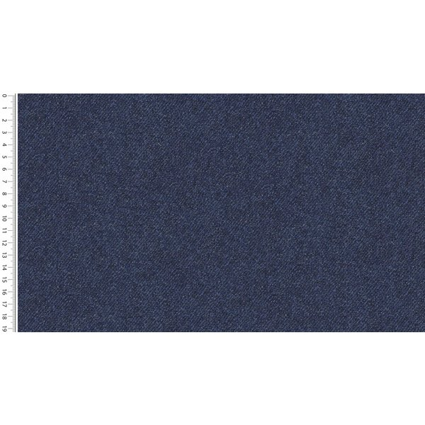 French terry in jeanskleur middenblauw