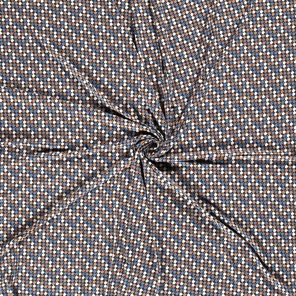 Viscose tricot memo jeansblauw