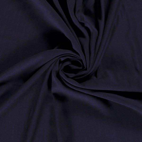 Viscose stof effen donkerblauw
