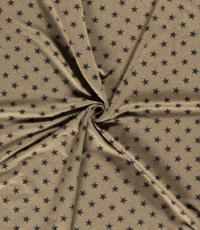 French Terry stof groen met blauwe sterren