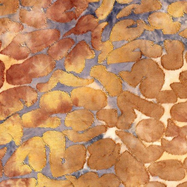 Jersey met opgelegd bladpatroon oker