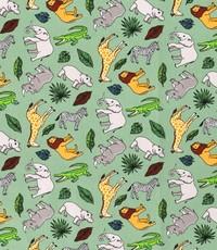 Popeline stof safari groen