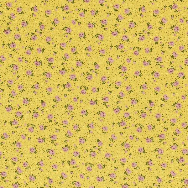 Viscose mille fleurs geel