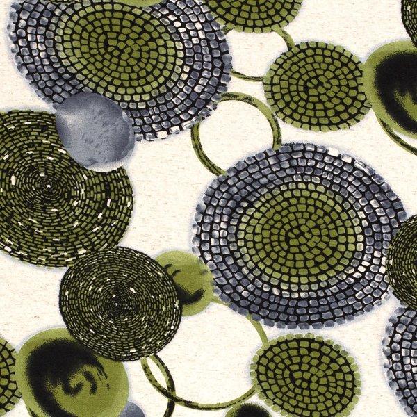 Tricot met groene cirkels
