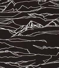Stretch katoen abstracte print zwart