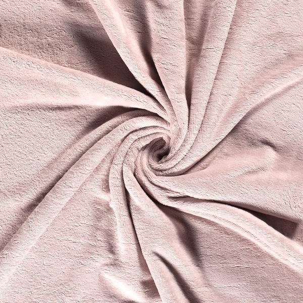 Bamboe fleece badstof licht roze