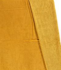 Bamboe fleece badstof okergeel