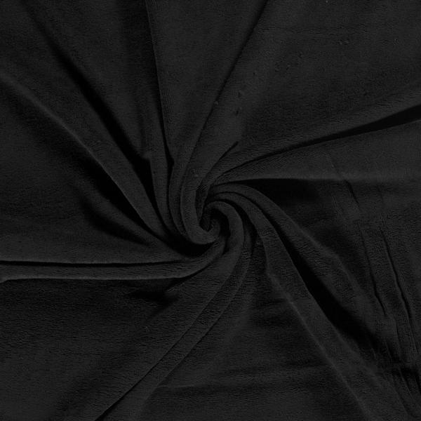 Bamboe fleece badstof zwart
