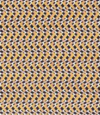 Stretch katoen wissel zigzag met geel en blauw