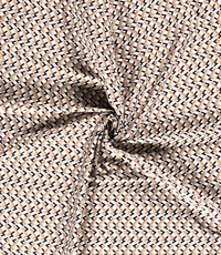 Stretch katoen wissel zigzag met beige