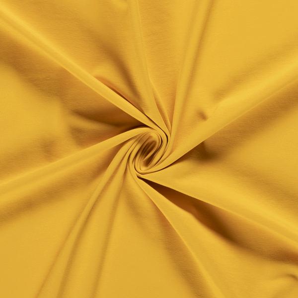 Katoenen tricot zware kwaliteit geel