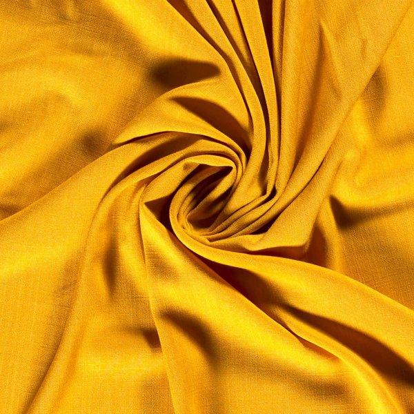 Viscose stof effen geel