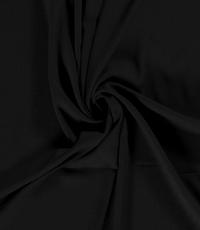 Viscose stof effen zwart