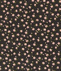 Viscose mille fleurs zwart