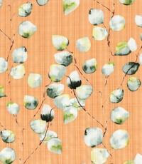 Linnenlook met witte blaadjes op zalmroze