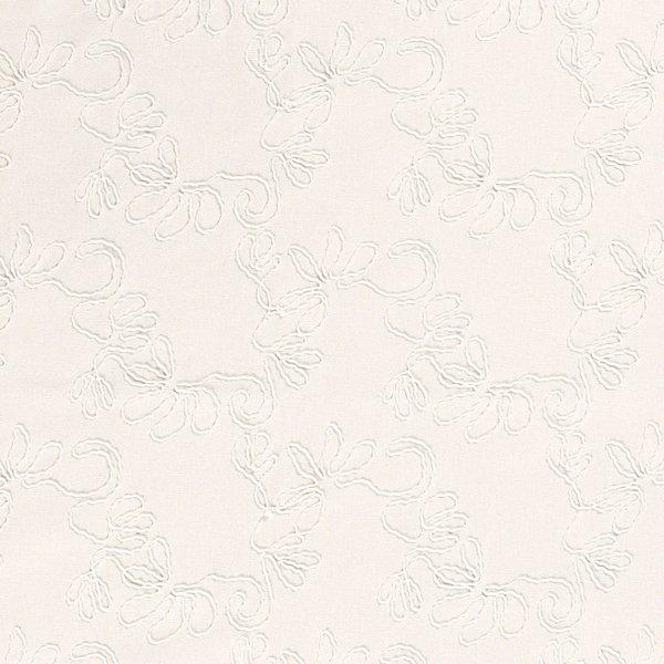 Linnenmix naturel met opgelegde draad ecru