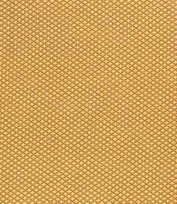 Popeline stof in geel met kleine boogjes