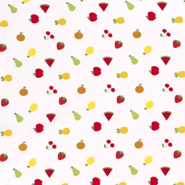 Popeline met mix fruit