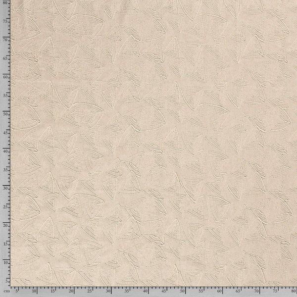 Linnenmix naturel met opgelegde draad