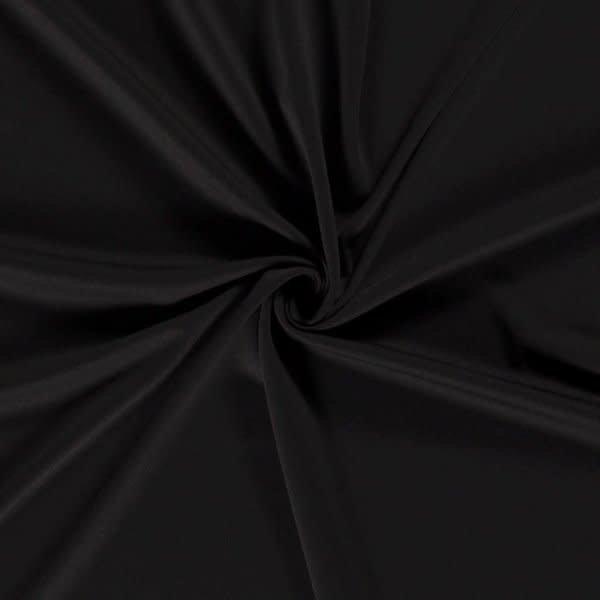 Uni crepe zwart
