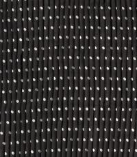 Plissé chiffonstof zwart met witte stippen