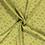 Viscose  stof met gebloemd dessin groen