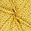 Viscose  stof met gebloemd dessin geel