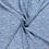 Viscose  stof met bloemetjes jeansblauw