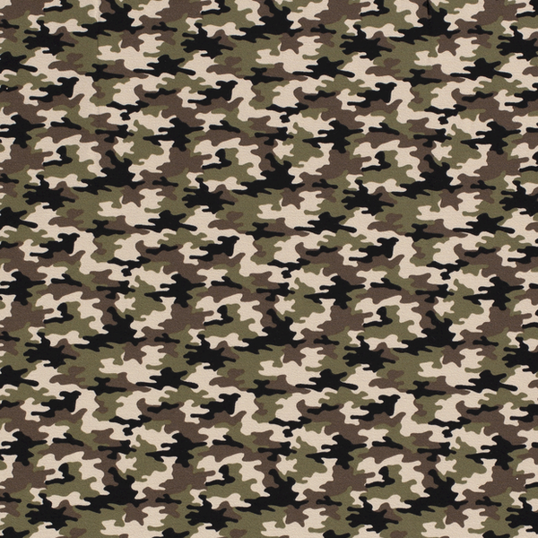 Tricot stof army groen met kaki