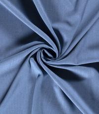 Viscose stof effen jeansblauw