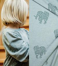 Knitted jogging tijger groen