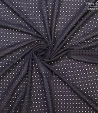 Broderie stof in zwart