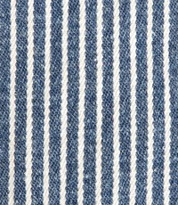 Gestreepte denim stretch middenblauw